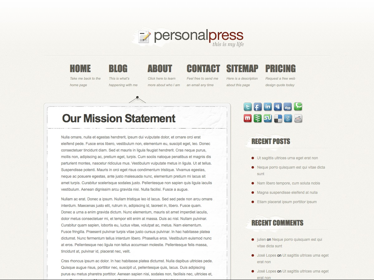 Nuestros temas WordPress - PersonalPress