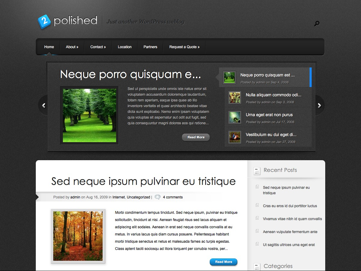 Nos thèmes WordPress - Polished