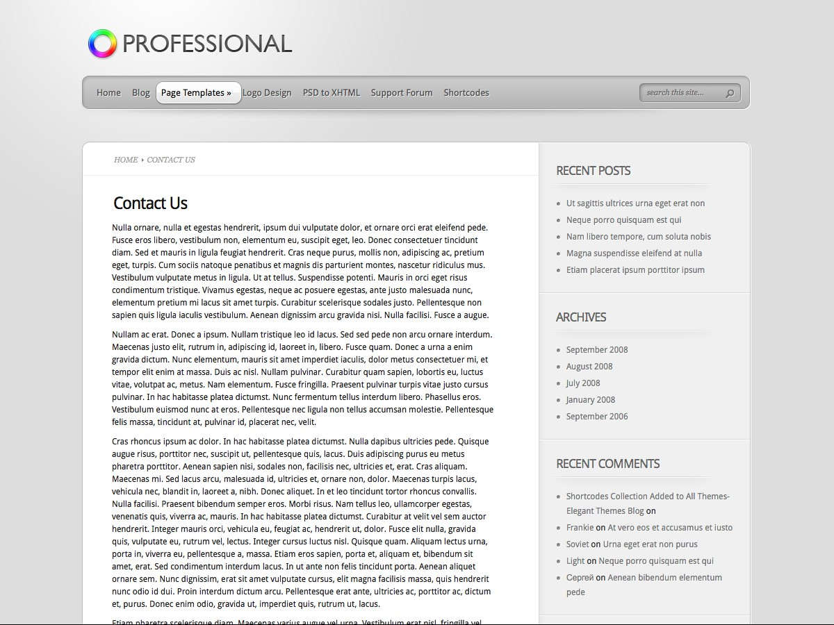 Unsere WordPress-Themes - Professional