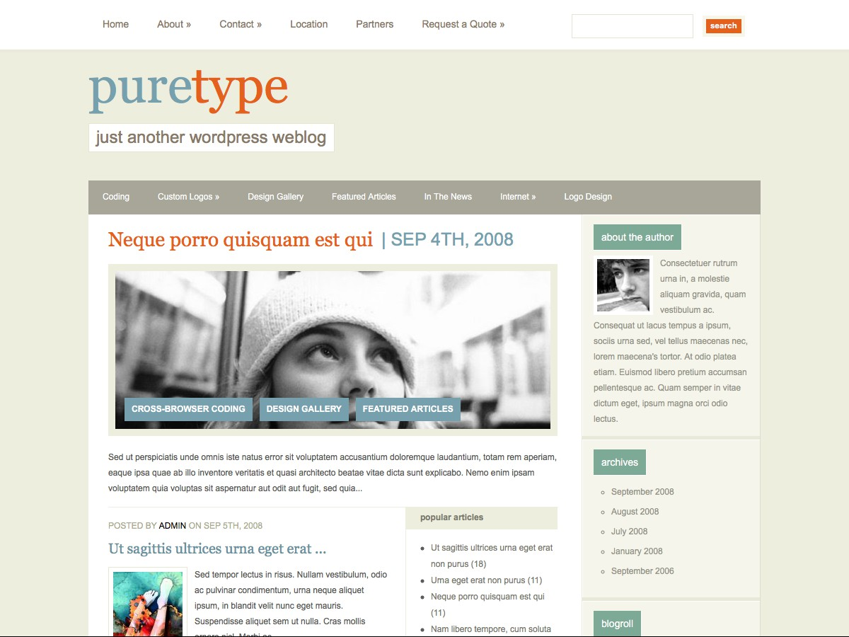 Unsere WordPress-Themes - PureType