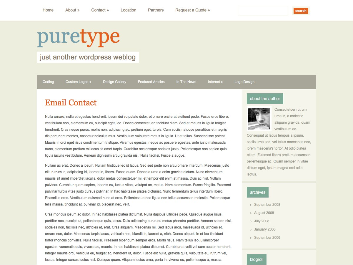 I nostri temi Wordpress - PureType