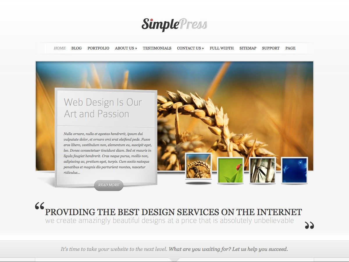 Our WordPress themes - SimplePress