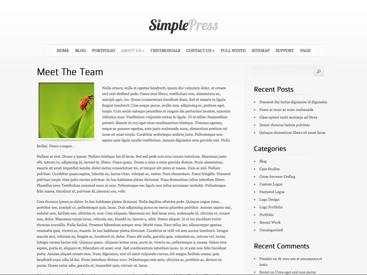 Unsere WordPress-Themes - SimplePress