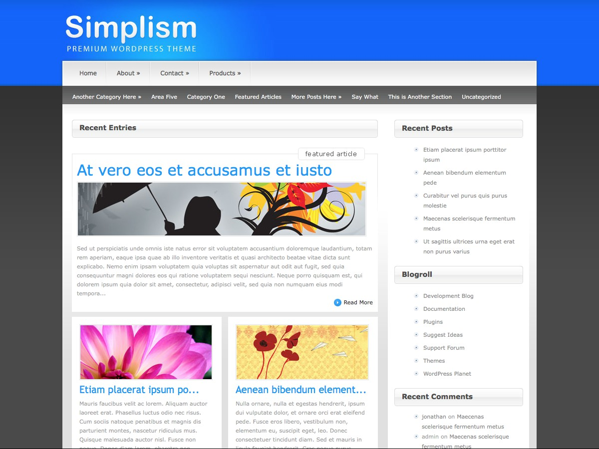 Our WordPress themes - Simplism