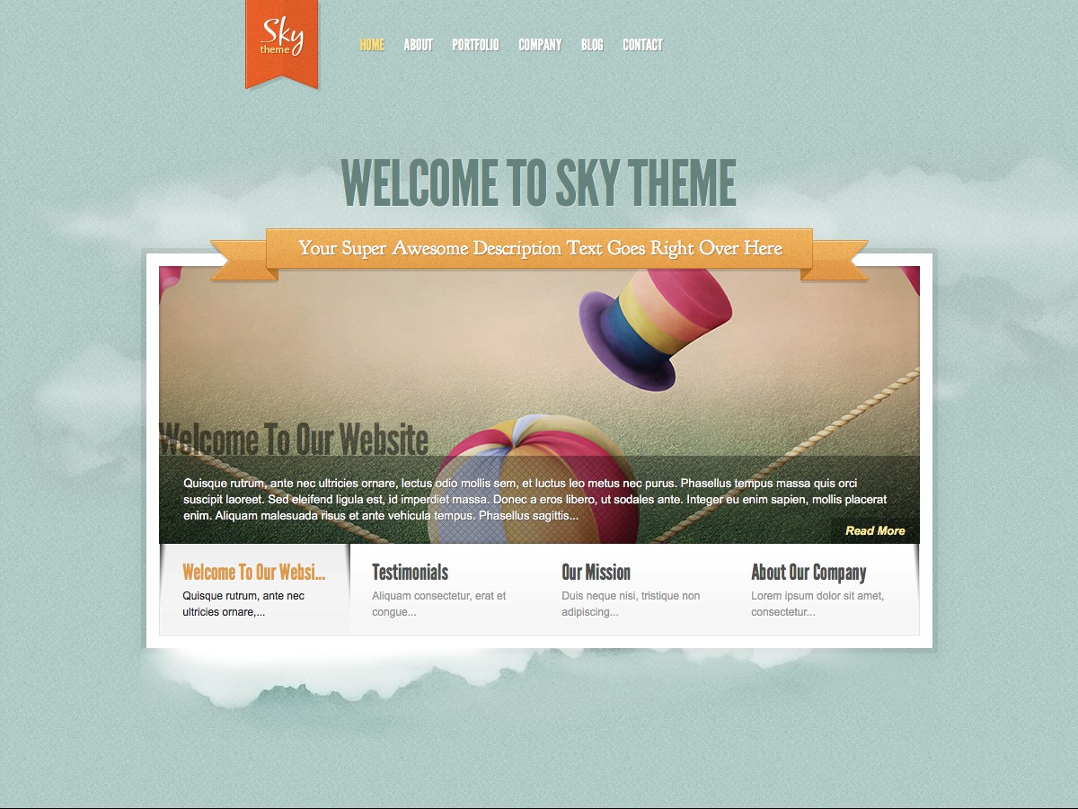 Our WordPress themes - Sky