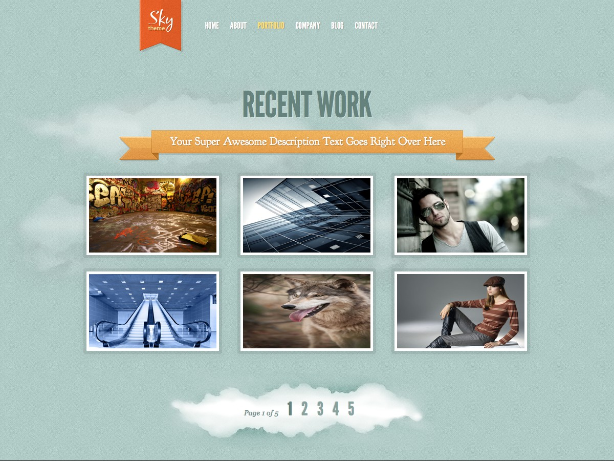 Unsere WordPress-Themes - Sky