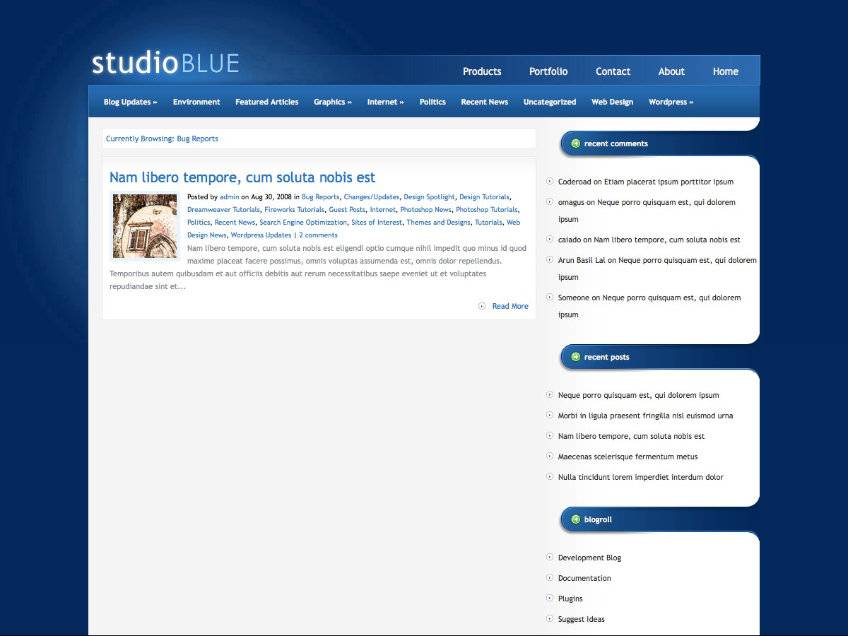 Unsere WordPress-Themes - StudioBlue