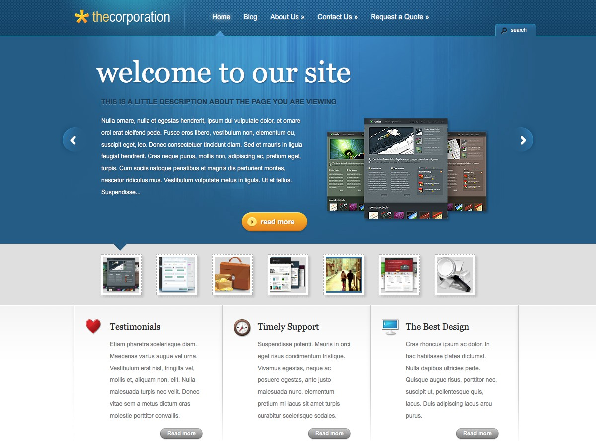 I nostri temi Wordpress - TheCorporation