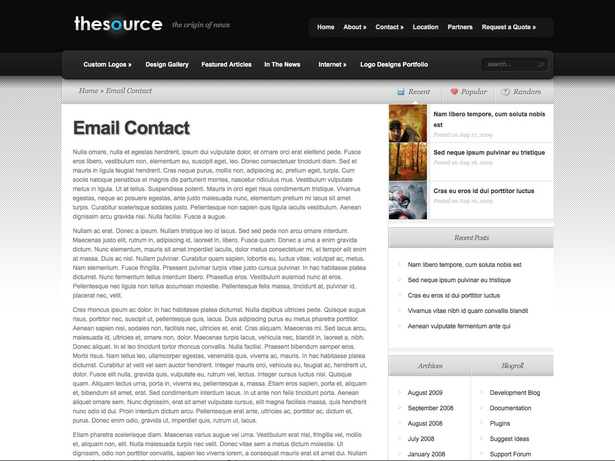 Nuestros temas WordPress - TheSource
