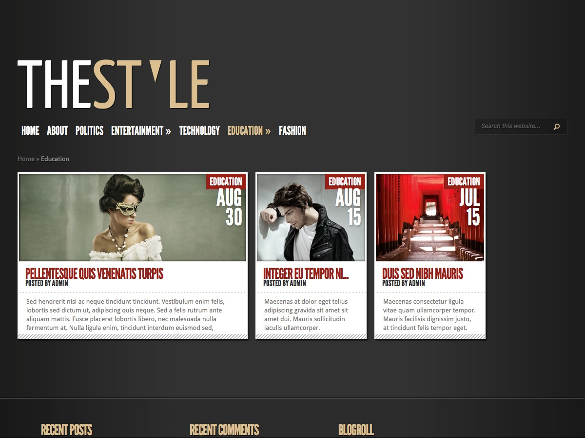 Nuestros temas WordPress - TheStyle