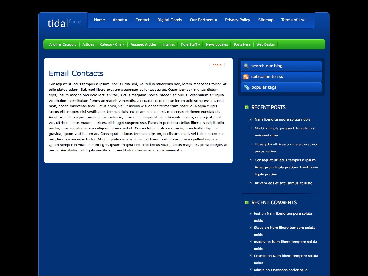 I nostri temi Wordpress - TidalForce