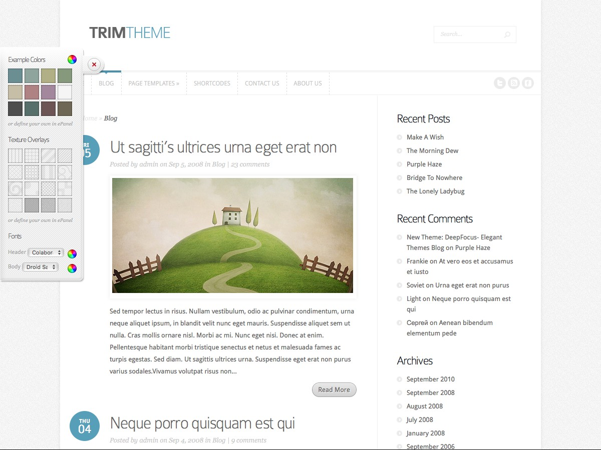 I nostri temi Wordpress - Trim