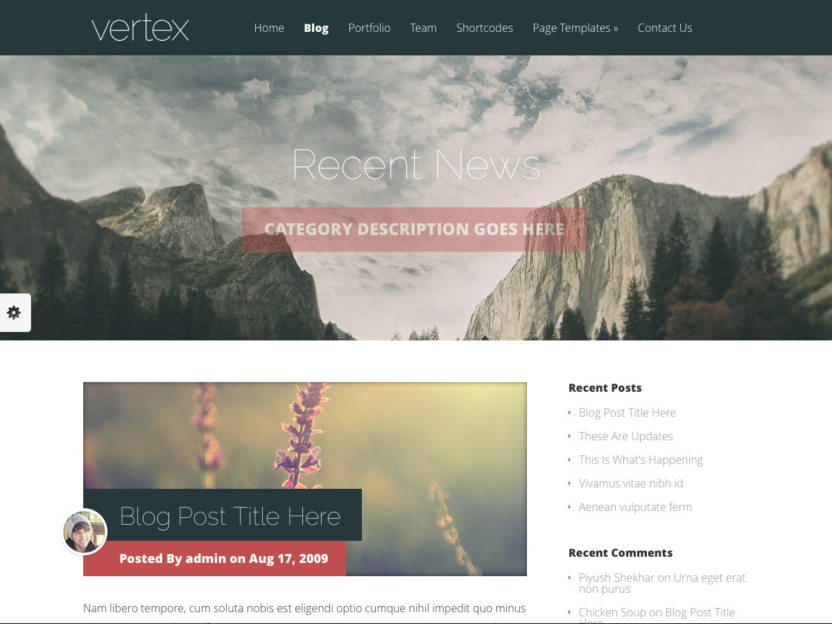 Nuestros temas WordPress - Vertex