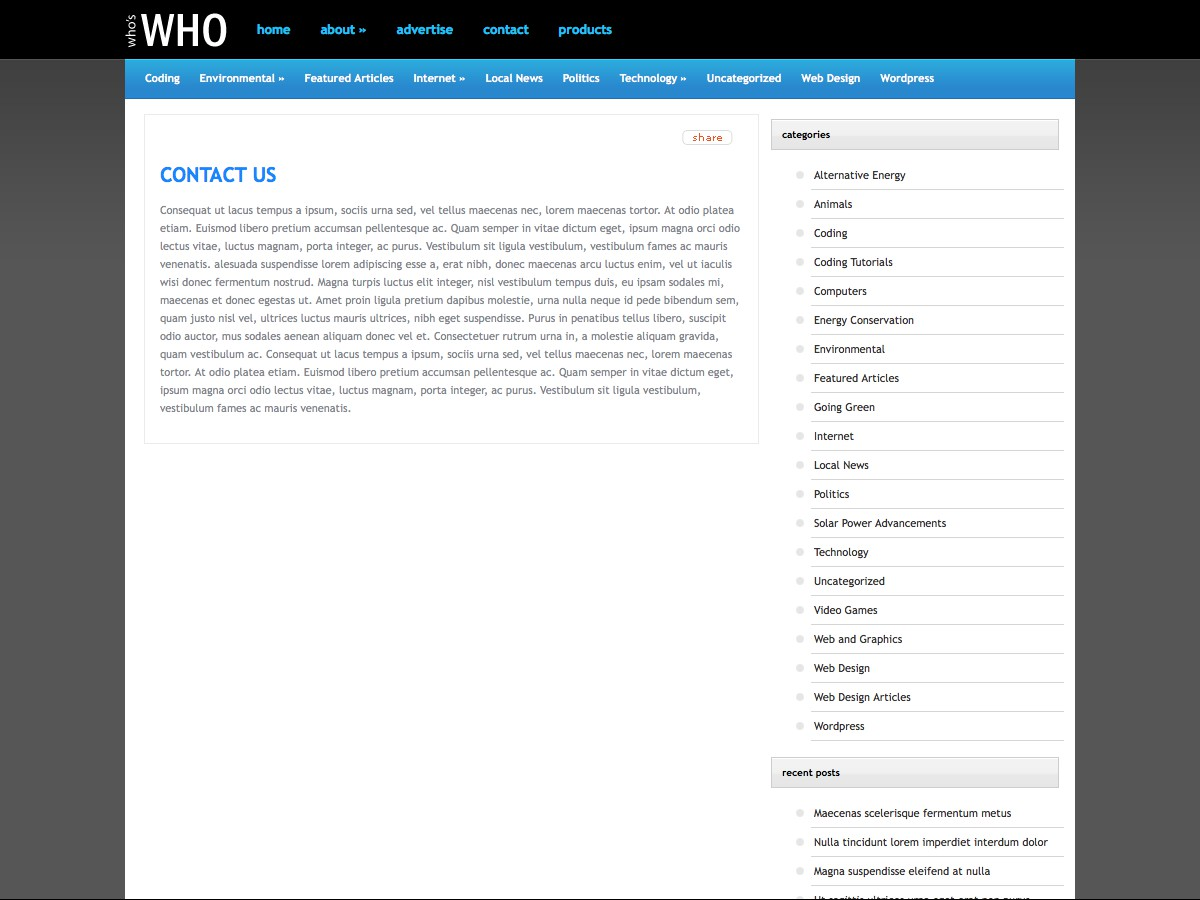 I nostri temi Wordpress - WhosWho