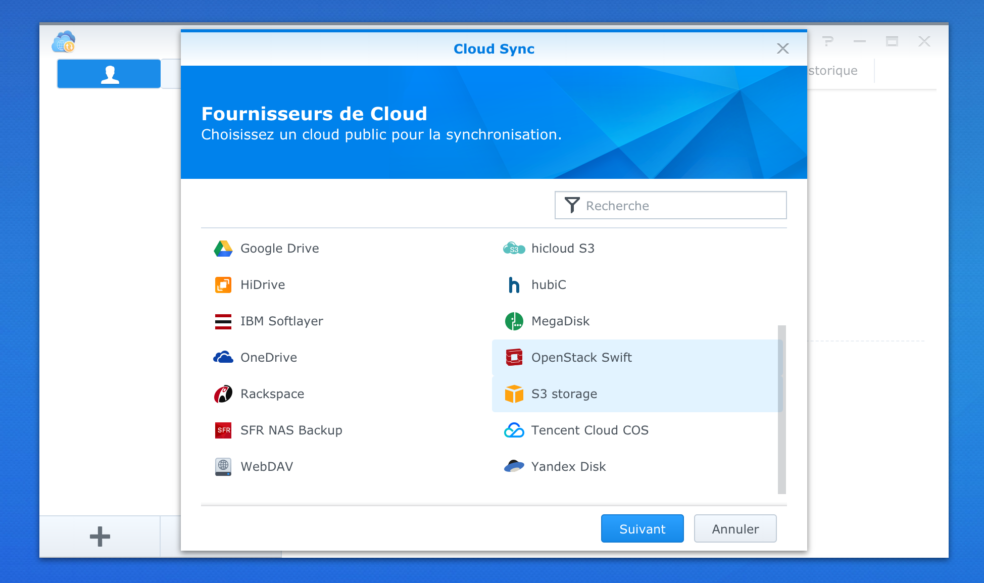 Swiss Backup: backing up a Synology NAS with Cloud Sync and